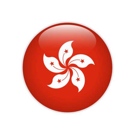 Hong Kong flag on button
