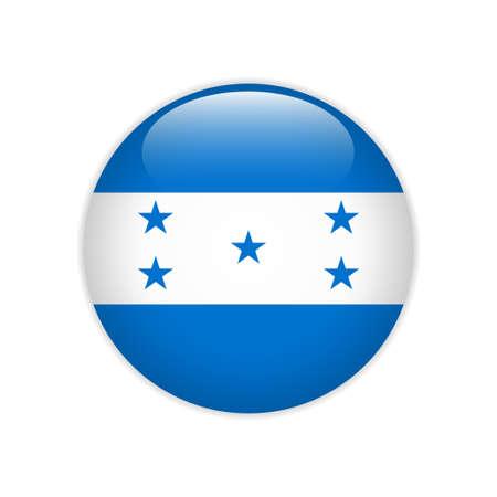 Honduras flag on button