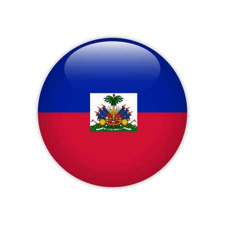 Haiti flag on button