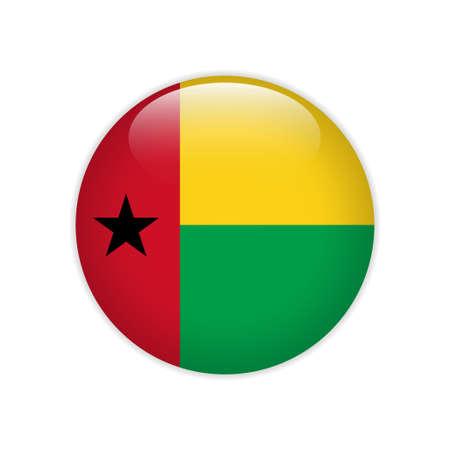 Guinea-Bissau flag on button