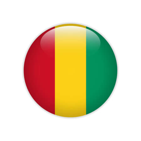 Guinea flag on button