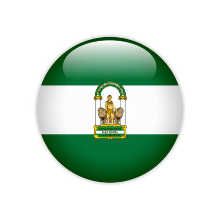 Flag Andalucia on button Çizim