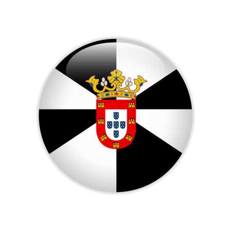 Flag Ceuta on button Çizim
