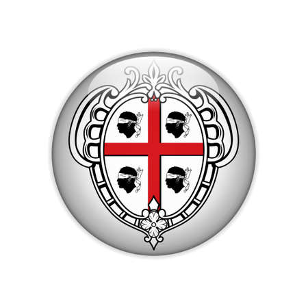 Flag Sardegna-Stemma on button