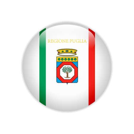 Flag Apulia button