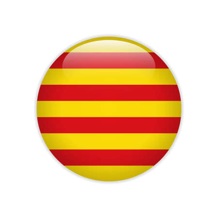 Flag Catalonia button Çizim