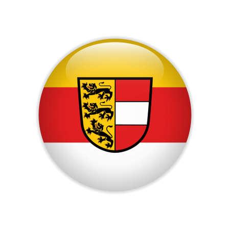 Flag Carinthia button Иллюстрация