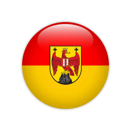 Flag Burgenland button Illustration