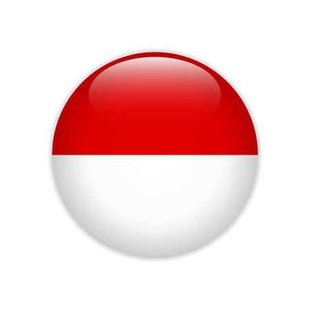 Flag Hessen button Stock Vector - 122122369