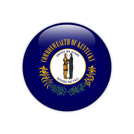 Flag Kentucky button Illustration