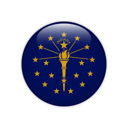 Flag Indiana button