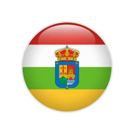 Flag La Rioja button