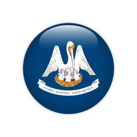 Flag Louisiana button