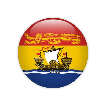 Flag New Brunswick button