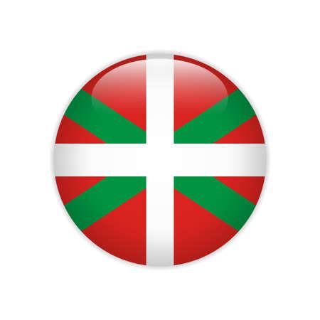 Flag of Basque Country autonomous communities of Spain button