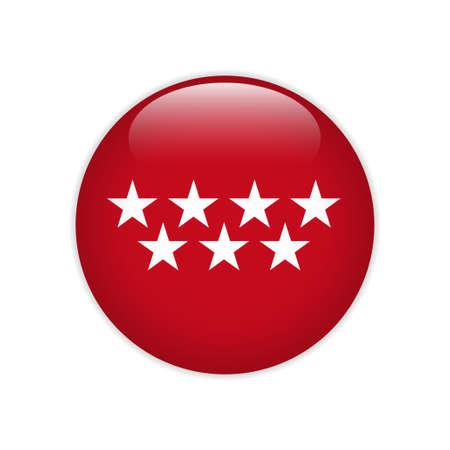 Flag of Community Madrid button Иллюстрация
