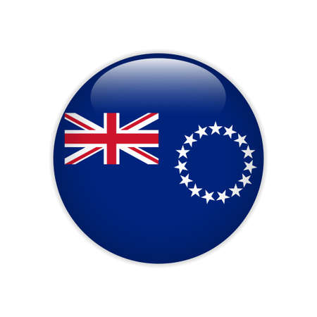 Flag of Cook Islands button