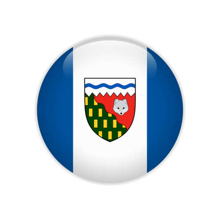 Flag of Northwest Territories button