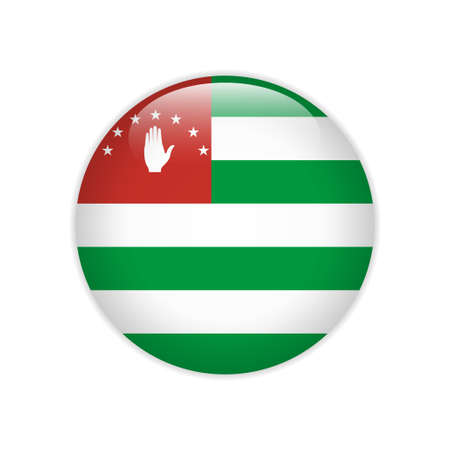 Flag of Republic Abkhazia button