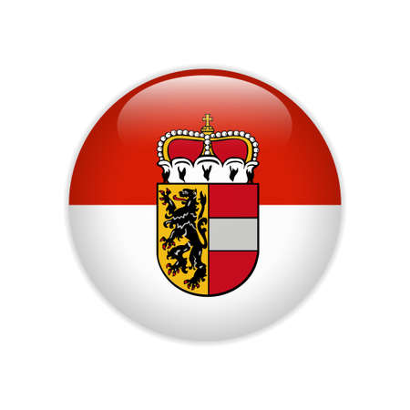 Flag of Salzburg state button Иллюстрация