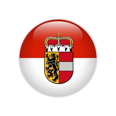 Flag of Salzburg state button Illustration
