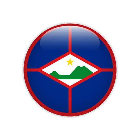 Flag of Sint Eustatius button