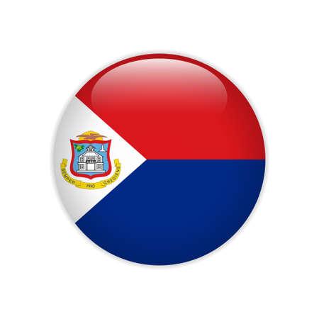 Flag of Sint Maarten button Ilustrace