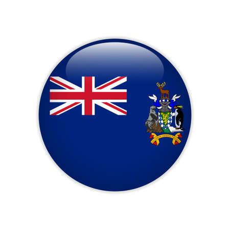Flag of South Georgia and the South Sandwich Islands button Ilustrace