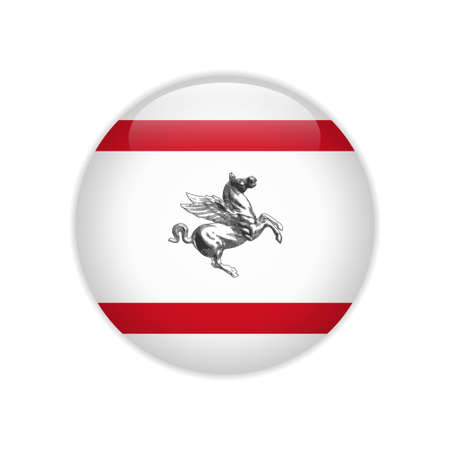 Flag of Tuscany button