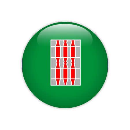 Flag of Umbria button Иллюстрация