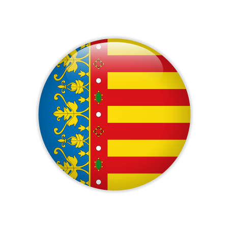 Flag of Valencian Community button Çizim