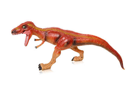 Tyrannosaurus dinosaurs toy isolated on white background with clipping path
