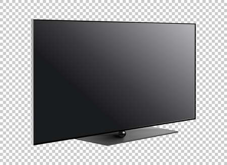 LED television screen on background vector