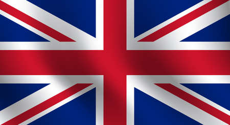 Waving flag of Great Britain. Vector illustration 일러스트