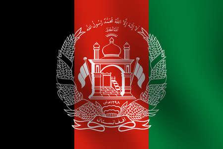 Waving flag of Afghanistan. Vector illustration 일러스트