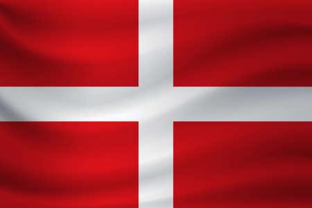 Waving flag of St. John. Vector illustration