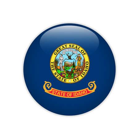 Flag Idaho button