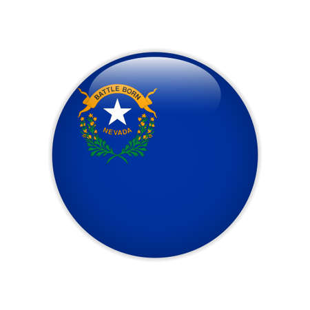 Flag Nevada button