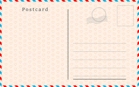 Postcard with paper texture Vector illustration