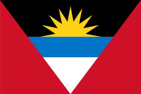 flag Antigua and Barbuda. Vector illustration