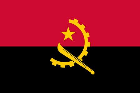 flag Angola. Vector illustration Ilustração