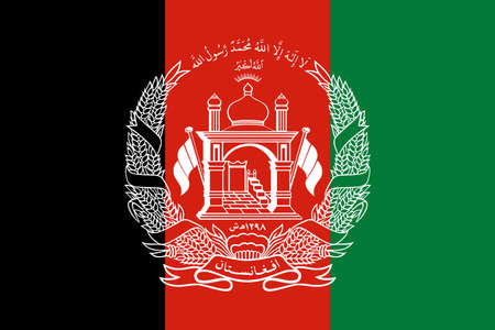 flag Afghanistan. Vector illustration Ilustração