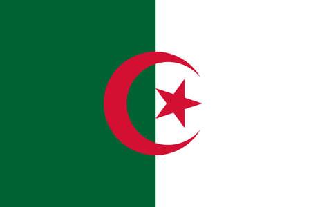 flag Algeria. Vector illustration Ilustração