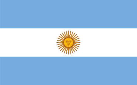 flag Argentina. Vector illustration Ilustração