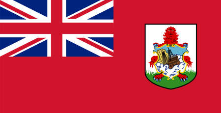flag Bermuda. Vector illustration Ilustração