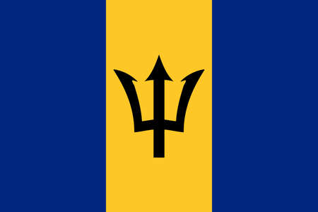 flag Barbados. Vector illustration Ilustração