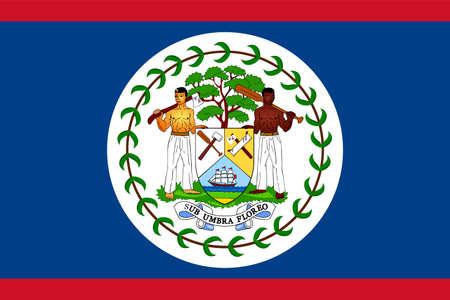 flag Belize. Vector illustration Ilustração