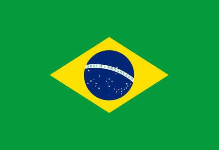 flag Brazil. Vector illustration Ilustração
