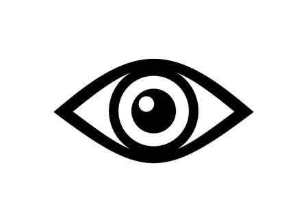 Eye icon vector illustration on white Ilustração