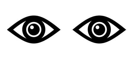 Eyes icon vector illustration on white